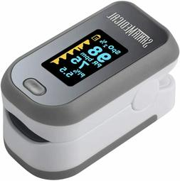 Finger Pulse Oximeter  Blood Oxygen Saturation Monitor W/ Pu